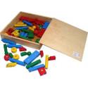 Drewniane klocki kreatywne na napy. Pomoc dydaktyczna dla przedszkolaków.