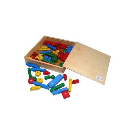 Drewniane klocki kreatywne na napy 1. Pomoc dydaktyczna dla przedszkolaków