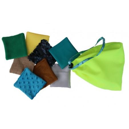 Poduszki, woreczki sensoryczne - fakturowe