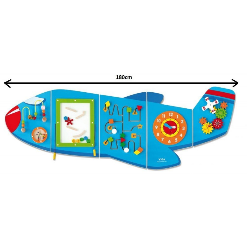 Sensoryczny panel ścienny mega Samolot - pomoc i układanka manipulacyjna i zręcznościowa