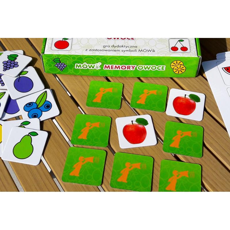 Gra dydaktyczna do utrwalania symboli i słownictwa Owoce