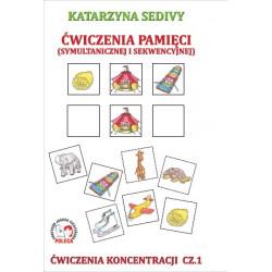 Ćwiczenia pamięci (symultanicznej i sekwencyjnej). Ćwiczenia koncentracji cz. 1
