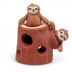 Gniotek - zabawka sensoryczna - wesołe leniwce