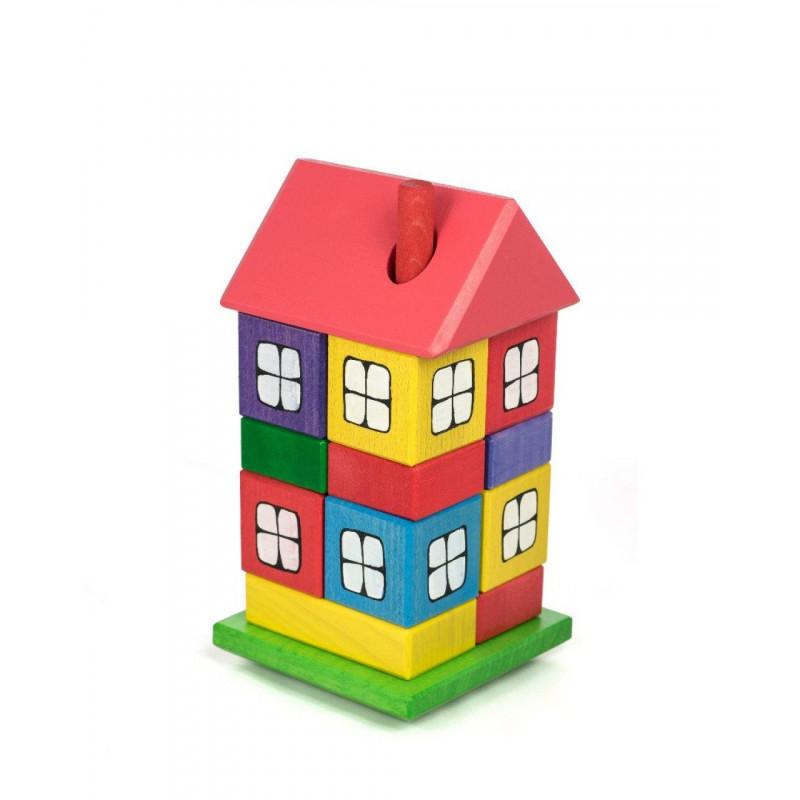 Drewniany domek układanka