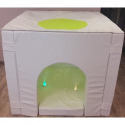 Domek sensoryczny biały z pianki