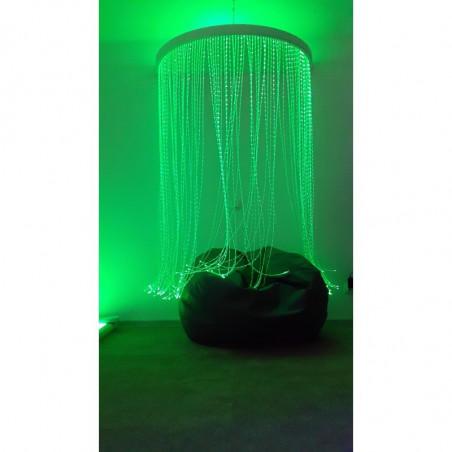 Baldachim światłowodów półkole 130x65 cm