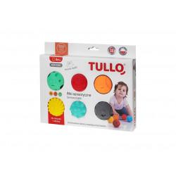 Piłki sensoryczne buźki 6 sztuk