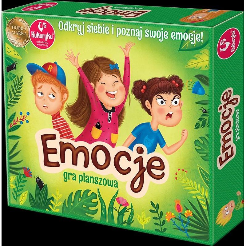 Emocje - porozmawiajmy o emocjach. Edukacyjna gra planszowa dla każdego.