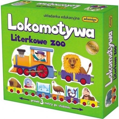 Lokomotywa Literkowe Zoo. Układanka edukacyjna o dł. 2,8 m