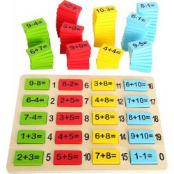 Klocki matematyczne - działania matematyczne. Pomoc edukacyjna
