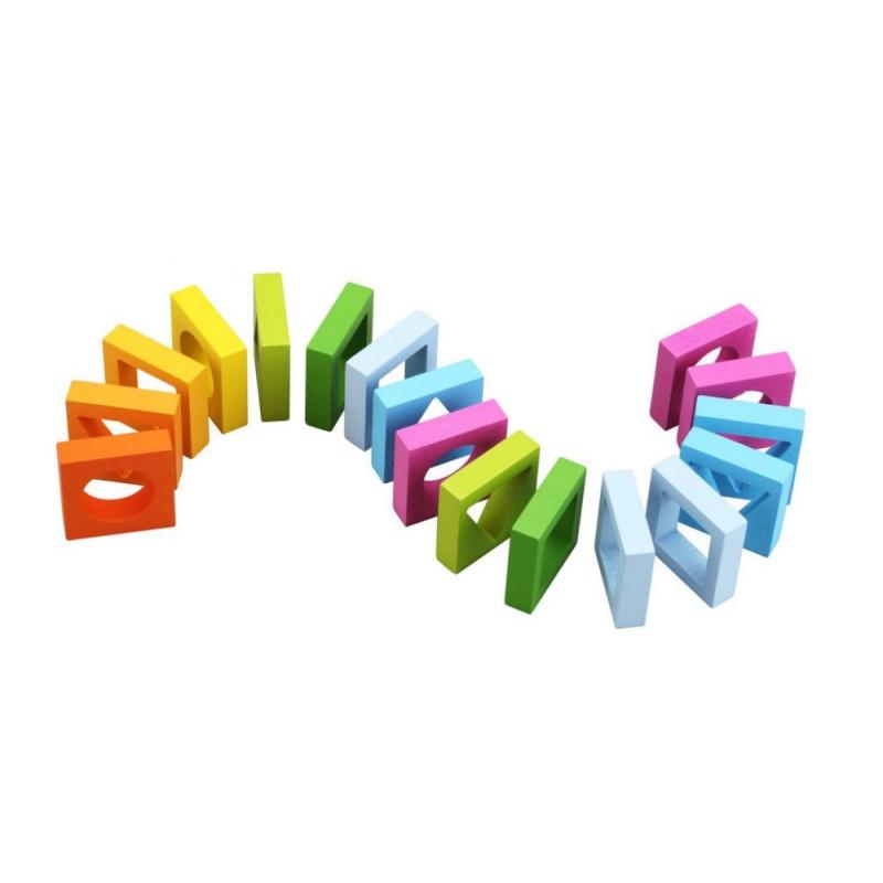Klocki geometryczne - układanka geometryczna