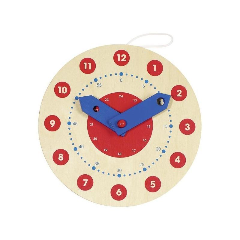 Zegar drewniany do nauki odczytywania godzin