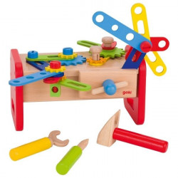 Mały warsztat - narzędzia i klocki do skręcania. Pomoc manipulacyjna
