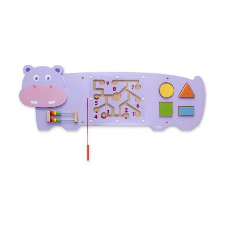 Panel sensoryczny - Hipcio. Pomoc i układanka manipulacyjna