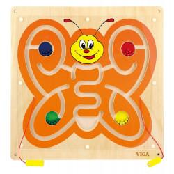 Panel ścienny (tablica manipulacyjna) - Wesoły motylek w labiryncie