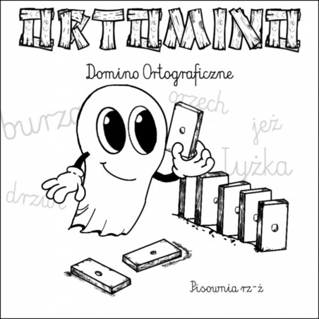 Ortomino rz - ż - domino ortograficzne. Pomoc dydaktyczna (nauka poprawnej pisowni)