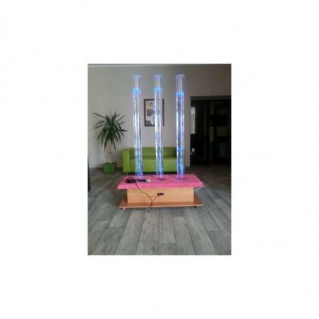 Zestaw trzech mobilnych interaktywnych kolumn wodnych 150 x 10 cm z tapicerowaną nakładką, sterowana za pomocą pilota