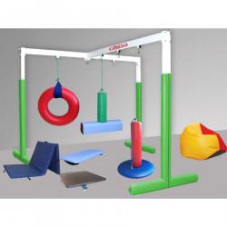 Duży zestaw sprzętów do integracji sensorycznej