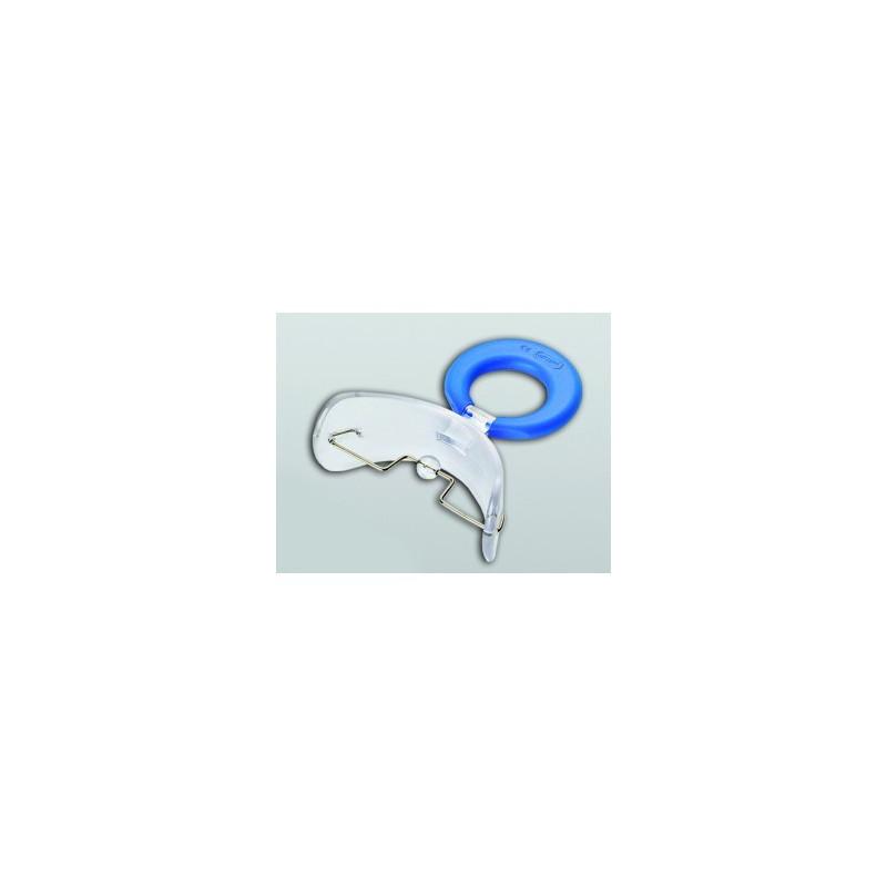 Płytka przedsionkowa dr Hinz II sztywna z blokadą językową, zęby mieszane