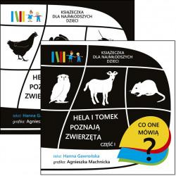 Hela i Tomek poznają zwierzęta. Książeczka dla najmłodszych dzieci, cz. I i II