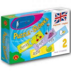 Puzzle - Słówka angielskie: żywność. Gra edukacyjna