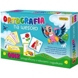 Ortografia na wesoło - quiz ortograficzny z rebusami i zagadkami