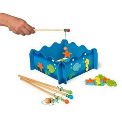 Łowienie ryb w stawie - złap rybkę. Gra zręcznościowa