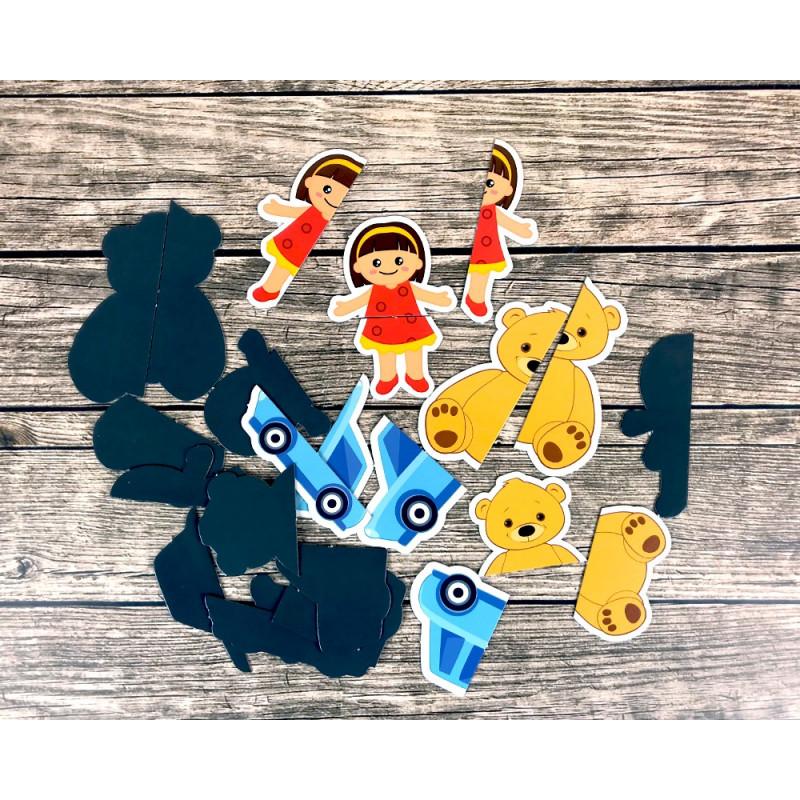 Autyzm. Ćwiczenia stolikowe. Zestaw 1. Zabawki