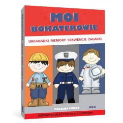 Moi bohaterowie. Zestaw edukacyjny dla chłopców (Układanki, memory, sekwencje, zagadki)
