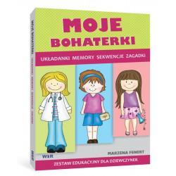 Moje bohaterki. Zestaw edukacyjny dla dziewczynek (Układanki, memory, sekwencje, zagadki)