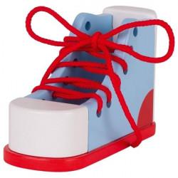 Bucik (trampek) do nauki sznurowania. Pomoc zręcznościowa but