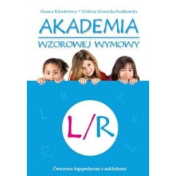 Akademia wzorowej wymowy L/R. Ćwiczenia logopedyczne z naklejkami