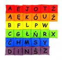 Woreczki gimnastyczne Kolorowy Alfabet (zestaw literek - 6 kolorów)