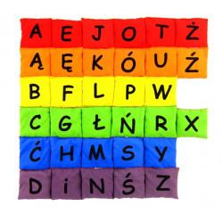 Woreczki Kolorowy Alfabet (zestaw literek - 6 kolorów)