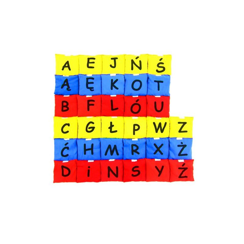 Woreczki gimnastyczne Kolorowy Alfabet (zestaw literek - 3 kolory)