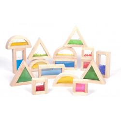 Kolorowe klocki sensoryczne (figury)