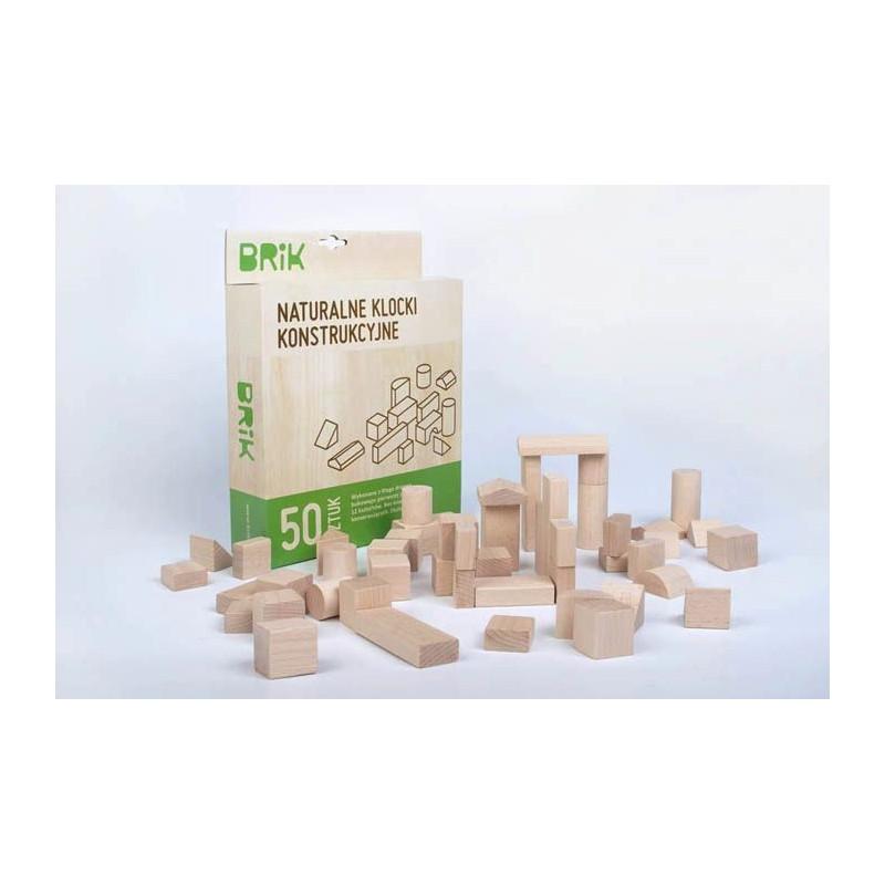 Klocki drewniane wzorki z sorterem 50 sztuk