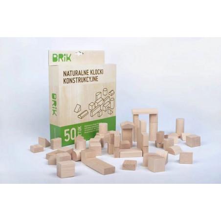 Klocki drewniane naturalne 50 sztuk