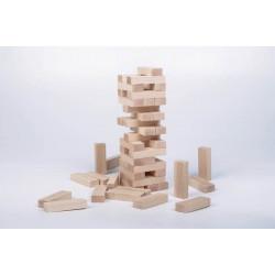 Wieża drewniana naturalna typu JENGA. Klocki drewniane