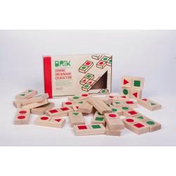 Domino drewniane edukacyjne