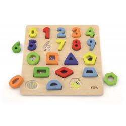 Układanka 3D kształty i cyfry