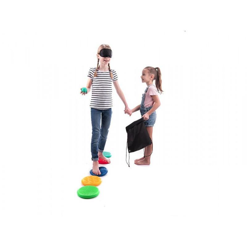 Sensoryczne dyski - gra pamięciowo dotykowa