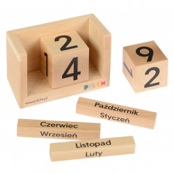 Drewniany Kalendarz