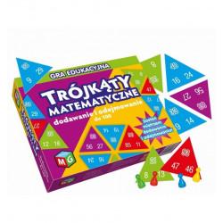 Trójkąty matematyczne. Dodawanie i odejmowanie do 100. Matematyczna gra edukacyjna