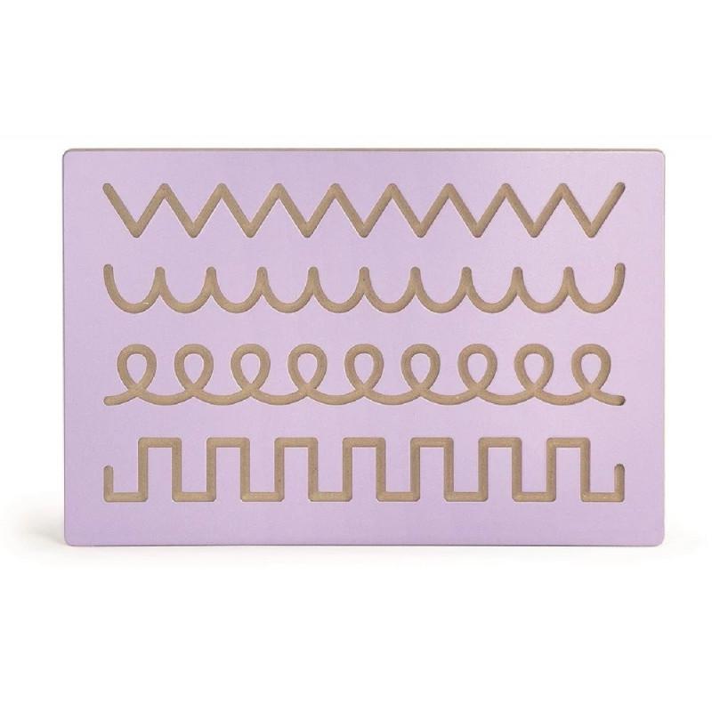 Panele ścienne wymienne - kształty, szlaczki, zwierzęta + duża rama (zestaw)