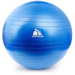 Piłka sensoryczna Fitness do masażu 65 cm z pompką niebieska