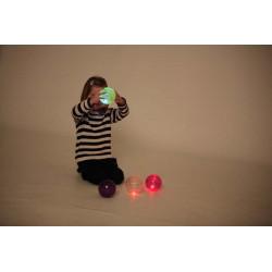 Świecące piłeczki. Zestaw 4 szt. Pomoc sensoryczna