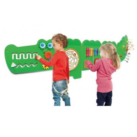Panel ścienny, sensoryczny - Krokodyl (duży)