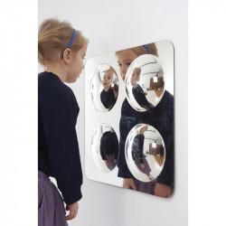 Panel lustrzany 49x49 cm - 4 kule