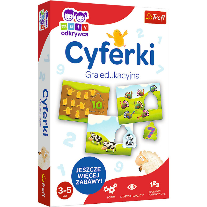 Zbiór edukacyjnych zabaw matematycznych - Cyferki